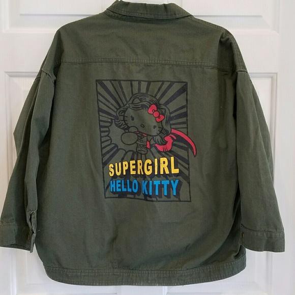 1ec509728 Hello Kitty/ graphic jean utility jacket. M_5c4a0978c61777049c19225d
